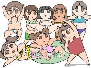 [RE288705] GIF Para Para Manga – Cute Girls 3